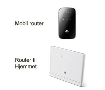 Del mobilt bredbånd med en 4G router